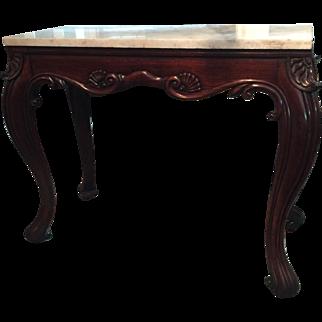 An Irish console table in mahogany, circa 1820.
