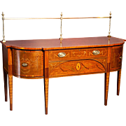 An English Sheraton design Antique Mahogany Inlaid Sideboard . circa 1870.