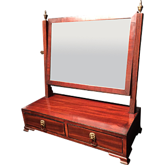 An English antique freestanding Vanity mirror.