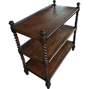 A very good quality English Antique Dumb Waiter with 3 shelves.
