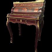A French Vernis Martin design ladies desk.