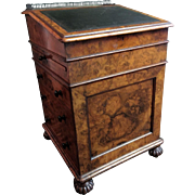 An English Davenport Desk stamped GILLOW below the lock.
