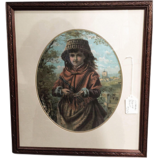 A charming English Print of a little girl.