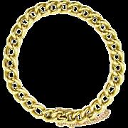 Antique 18 Karat Gold Heavy Victorian Curb Link Charm Bracelet | 28.60 Grams | Unisex 18K Gold Bracelet