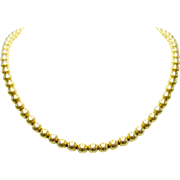 Antique Victorian / Edwardian 10K Yellow Gold Bead Necklace