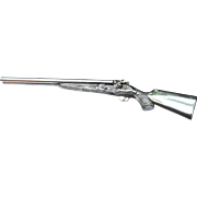 Decorative Miniature Movable Victorian Sterling Silver Shotgun Made in England | Objet d'Art
