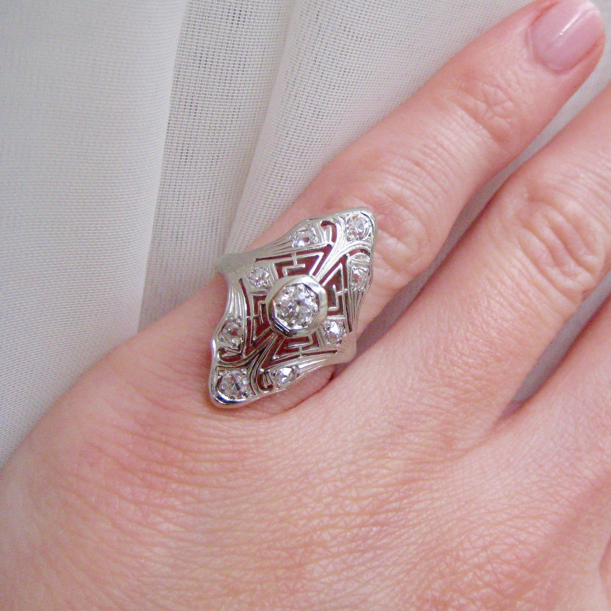 Elegant Vintage Pink Diamond Ring - Best Jewelry