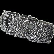 Antique Georgian Cut Steel Link Bracelet Ornate