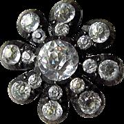 Georgian Silver Paste Button