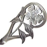 Victorian Sterling Silver Love Token Spoon