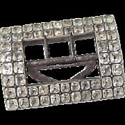 Georgian Silver Paste Shoe Buckle