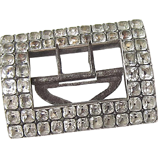 Georgian Silver Paste Shoe Buckle