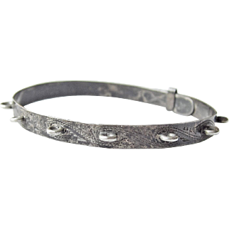 Victorian Coin Silver Bracelet for Love Tokens Charms 11 Rings