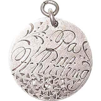 Victorian Love Token Charm Engraved Pa Whittling 1890