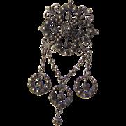Antique Pin Silver Norwegian J Tostrup Solje Ornate