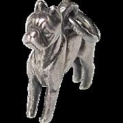 Vintage Sterling Silver Boxer Dog Charm