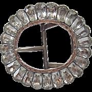 Georgian Silver Paste Buckle Gold Trim
