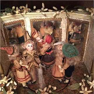 Zinner & Sohn Musical Clock Automaton With Six Dancing Dolls