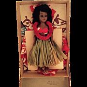 Vintage Elsie Denny Hawaiian Doll in Original Box Set