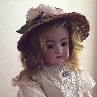 Beautiful Early Hat for Bisque Doll