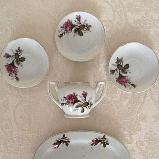 Moss Rose Child's Dishes