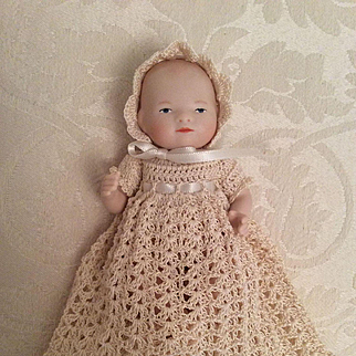 """4-Piece Complete Gown Set for 5"""" Baby Doll"""
