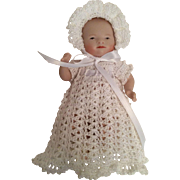 4-Piece Small White Gown Clothing Set for Little Baby Doll