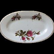 1950's Moss Rose Child's China Oval Platter