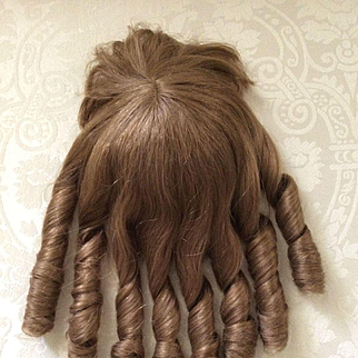 Vintage Human Hair Doll Wig Made in France