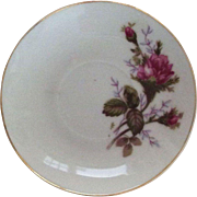 Child's Moss Rose 1950's China Saucer