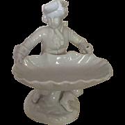 Vintage Colonial Man Figurine Decorative Dish