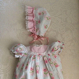 Dress and Bonnet for 1950's Baby Doll