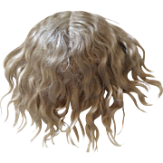 Early Blonde Mohair Wig for Antique Bisque Doll