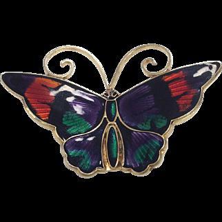 David Andersen Sterling Butterfly Pin