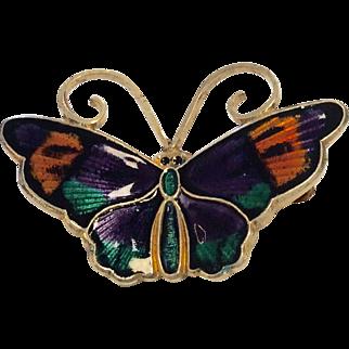 David Andersen Enamel Butterfly Pin