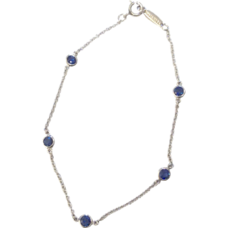 Tiffany & Co. Platinum Blue Sapphire Bracelet