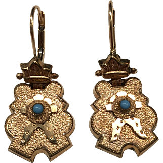 Gold Filled Victorian Earrings