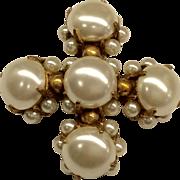 Hattie Carnegie Faux Pearl Pin