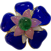 Chanel Poured Glass Brooch
