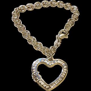 Tous Sterling Heart Bracelet
