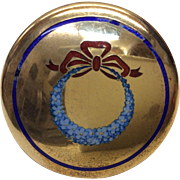 English Sterling Enamel Pill Box Circa 1909