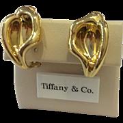 Tiffany & Co. Elsa Peretti 18K Calla Lily Earrings