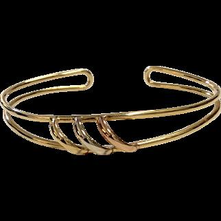 Cartier 18K Tri-Color Gold Bracelet