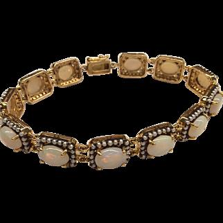 18K Opal and Seedpearl Bracelet