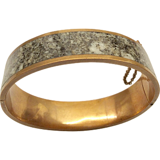 Granite Victorian Bangle Bracelet