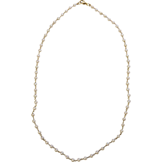 18K Cultured Pearl Necklace