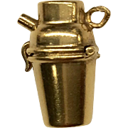 14K Moveable Cocktail Shaker Charm