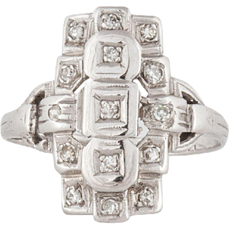 14K Diamond Ring Circa 1930