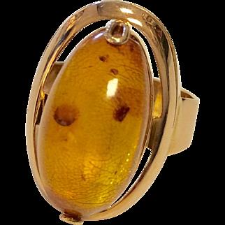 14K Russian Amber Ring