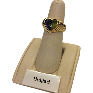 18K Bulgari Heart Shaped Ring